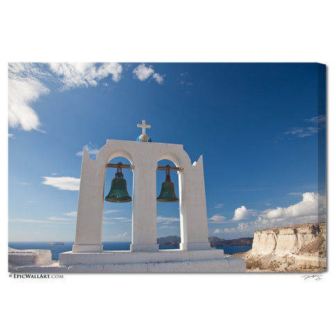 """Greek Island Skies"" Santorini Fine Art Gallery Wrapped Canvas Print"