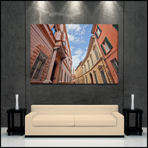 """Bologna Streets"" Italy Fine Art Gallery Wrapped Canvas Print"