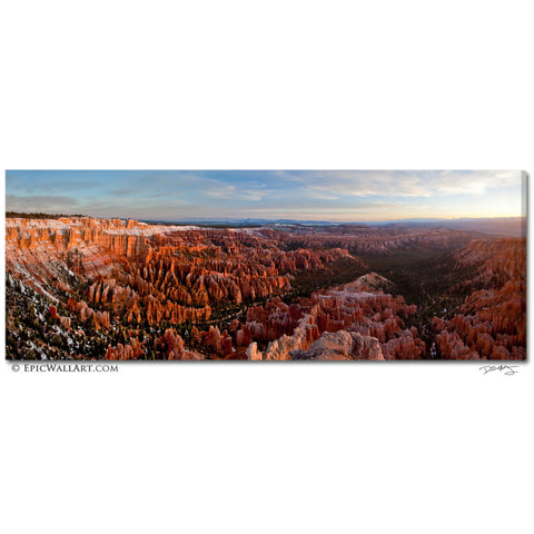 """Bryce Canyon Sunrise"" Panoramic Fine Art Gallery Wrapped Canvas Print"