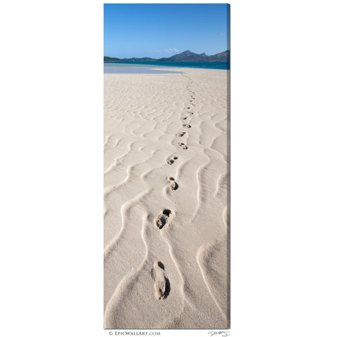 """Footsteps to Paradise"" Fiji Islands Vertical Panoramic Fine Art Gallery Wrapped Canvas Print"