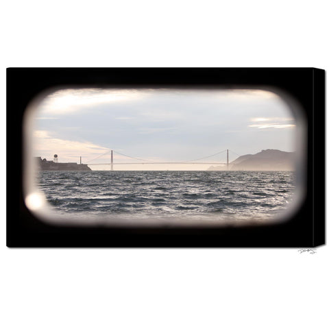 """Golden Gate Window"" San Francisco Fine Art Gallery Wrapped Canvas Print"