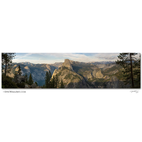"""Glacier Point Sunset"" Yosemite Panoramic Fine Art Gallery Wrapped Canvas Print"