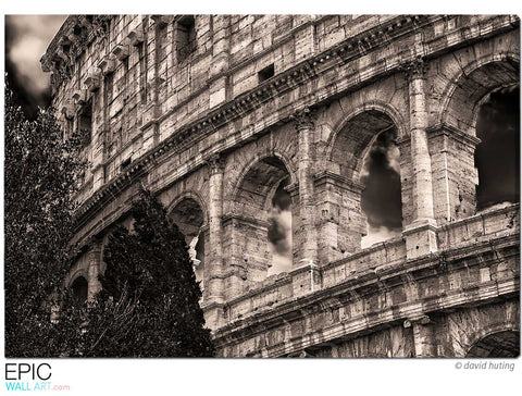 """Gladiator"" Colossuem Rome Fine Art Gallery Wrapped Canvas Print"