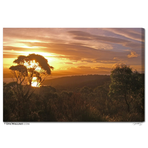 """Tasmanian Sunset"" Fine Art Gallery Wrapped Canvas Print"
