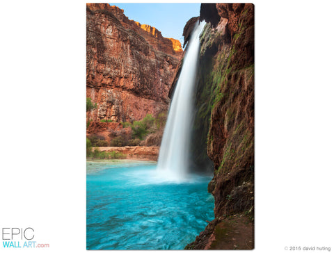 """Havasu Falls Sunset"" Havasupai Fine Art Gallery Wrapped Canvas Print"