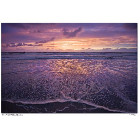 """Heavenly Ocean Sunset"" San Diego Fine Art Gallery Wrapped Canvas Print"