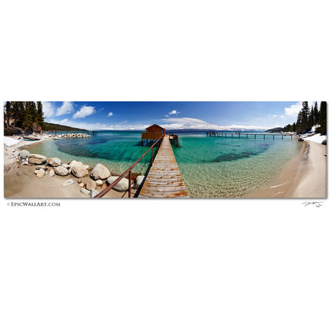 """Lake Tahoe Panoramic"" Fine Art Gallery Wrapped Canvas Print"