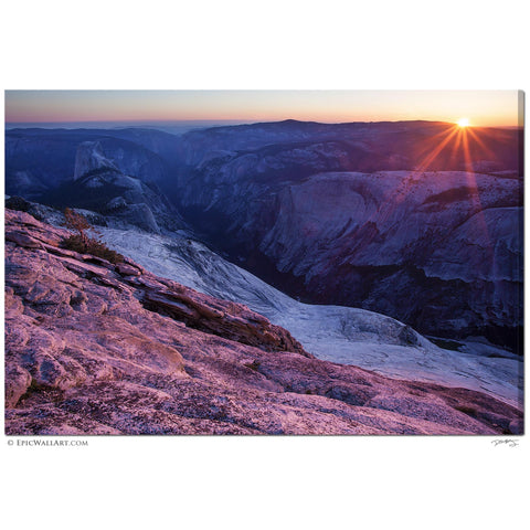 """Last Sun on Yosemite"" California Fine Art Gallery Wrapped Canvas Print"