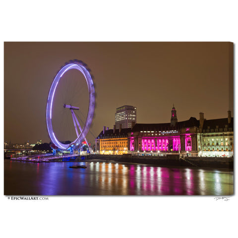 """London Wheel"" Fine Art Gallery Wrapped Canvas Print"