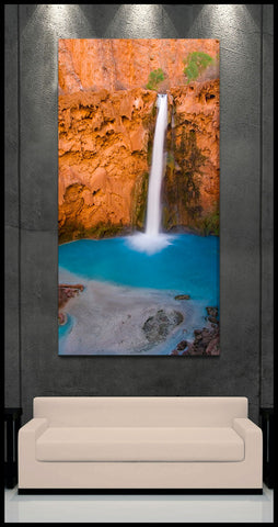 """Majestic Mooney Falls"" Havasupai Fine Art Gallery Wrapped Canvas Print"
