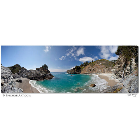 """McWay Cove Panoramic"" Big Sur Limited Edition Fine Art Gallery Wrapped Canvas Print"