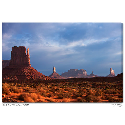 """Monument Valley Glow"" Fine Art Gallery Wrapped Canvas Print"