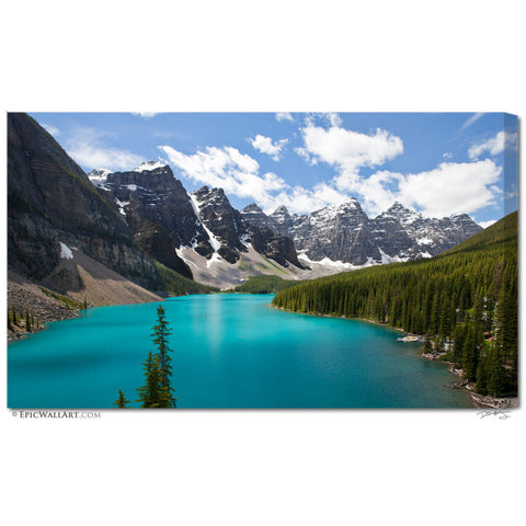 """Idyllic Moraine Lake"" Banff Fine Art Gallery Wrapped Canvas Print"