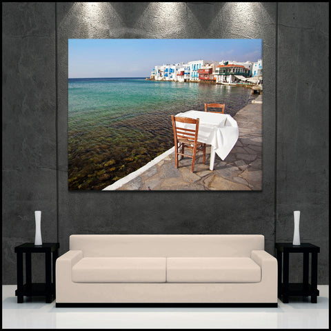 """Little Venice"" Greek Islands Fine Art Gallery Wrapped Canvas Print"