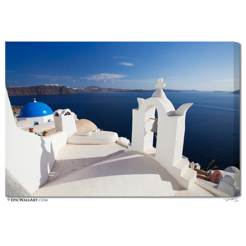 """Santorini Shadow"" Fine Art Gallery Wrapped Canvas Print"