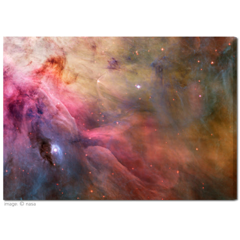 """Orion Nebula Abstract"" NASA Collection Fine Art Gallery Wrapped Canvas Print"