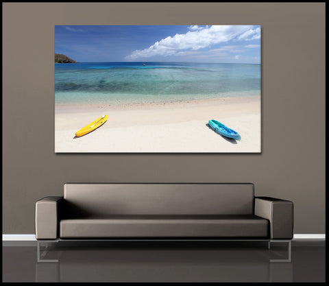 """Parked In Paradise"" Fiji Islands Fine Art Gallery Wrapped Canvas Print"