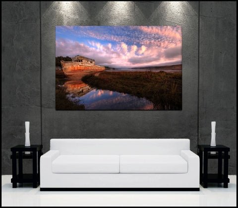 """Point Reyes Sunrise"" California Fine Art Gallery Wrapped Canvas Print"