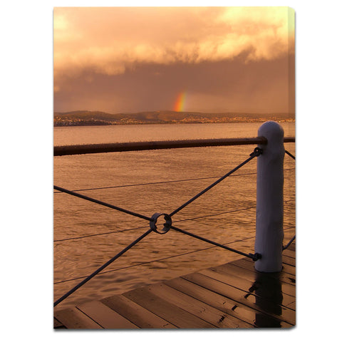 """Rainbow After the Storm"" Tasmania Fine Art Gallery Wrapped Canvas Print"