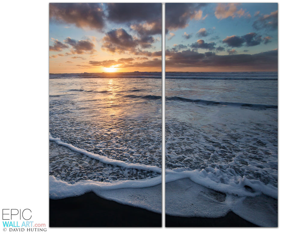 San Diego Sunset Wave  2-Piece Fine Art Gallery Wrapped Wall Mural/Set - EpicWallArt.com  sc 1 st  Epic Wall Art & San Diego Sunset Wave