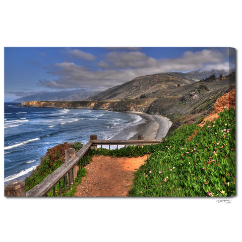 """Sand Dollar Beach"" Big Sur Fine Art Gallery Wrapped Canvas Print"