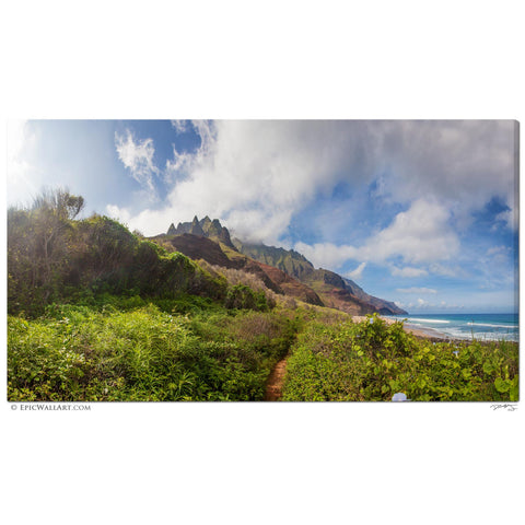 """The Hidden Beach"" Kauai Hawaii Kalalau Beach Fine Art Gallery Wrapped Canvas Print"