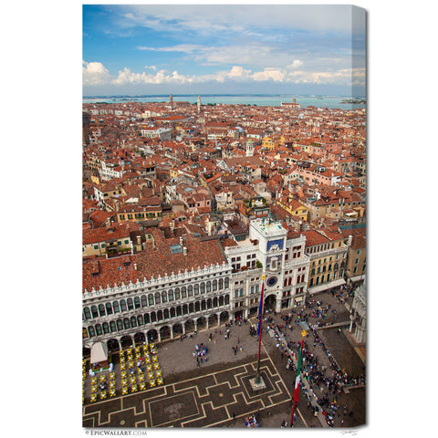 """Venice From Above"" Italy Fine Art Gallery Wrapped Canvas Print"
