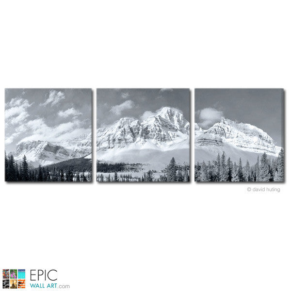White Mountain Morning Black White 3 Piece Triptych Fine Art Galle Epicwallart Com