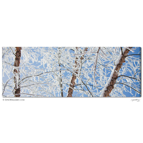 """White Winter Window"" Panoramic Fine Art Gallery Wrapped Canvas Print"