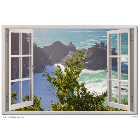 """Window to McWay"" Big Sur Window Fine Art Gallery Wrapped Canvas Print"