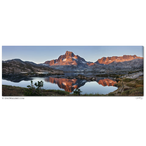 """Sunrise in Ansel Adams Wilderness"" Panoramic Fine Art Gallery Wrapped Canvas Print"
