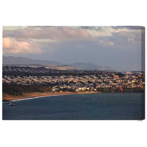 """Baker Beach Aerial"" San Francisco Fine Art Gallery Wrapped Canvas Print"