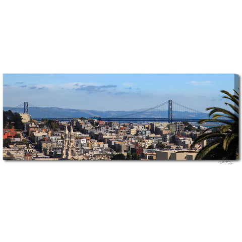 """San Francisco Bay"" Panoramic Fine Art Gallery Wrapped Canvas Print"