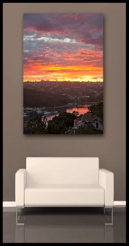 """Northern Beaches Sunset"" Sydney Fine Art Gallery Wrapped Canvas Print"