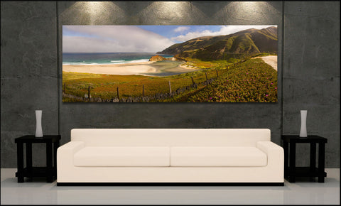 """Big Sur Panorama"" Fine Art Gallery Wrapped Canvas Print"