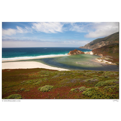 """Big Sur Paradise"" California Fine Art Gallery Wrapped Canvas Print"