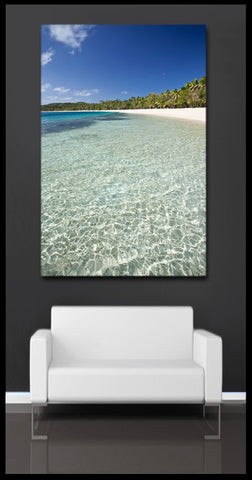 """The Blue Lagoon"" Fiji Fine Art Gallery Wrapped Canvas Print"