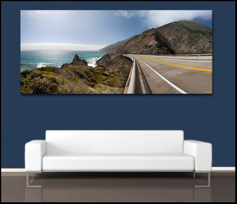"""The California Coast"" Panoramic Fine Art Gallery Wrapped Canvas Print"