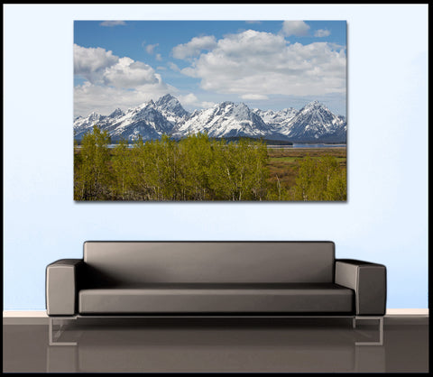 """The Grand Tetons"" Wyoming Fine Art Gallery Wrapped Canvas Print"