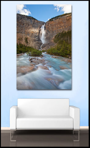 """The Great Falls"" Canadian Rockies Fine Art Gallery Wrapped Canvas Print"