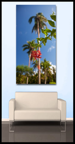 """Flower of Paradise"" Tropical Fine Art Gallery Wrapped Canvas Print"