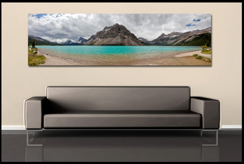 """Bow Lake Panorama"" Banff Fine Art Gallery Wrapped Canvas Print"