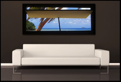 """Window to Paradise"" Fiji Islands Panoramic Fine Art Gallery Wrapped Canvas Print"