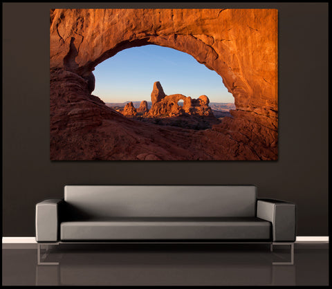 """Window to Arches"" Fine Art Gallery Wrapped Canvas Print"