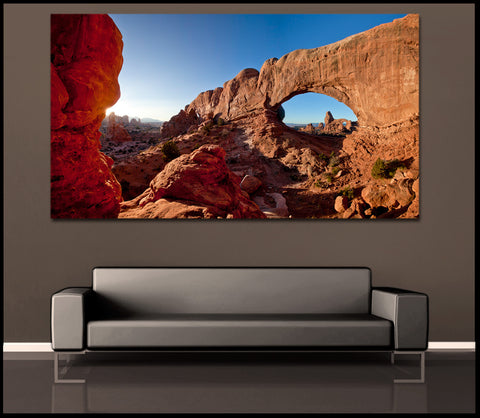 """Windows to Another World"" Arches Fine Art Gallery Wrapped Canvas Print"