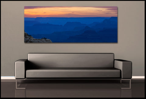 """Canyon Blues"" Grand Canyon Panoramic Fine Art Gallery Wrapped Canvas Print"