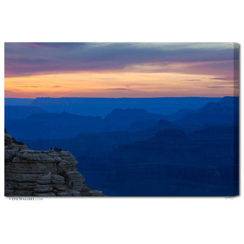"""Canyon Blues"" Grand Canyon Fine Art Gallery Wrapped Canvas Print"
