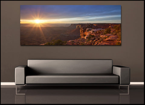 """The Canyon Sun"" Canyonlands Panoramic Fine Art Gallery Wrapped Canvas Print"
