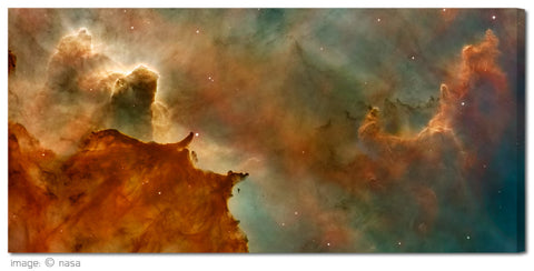"""Carina Nebula"" NASA Celestial Fine Art Gallery Wrapped Canvas Print"