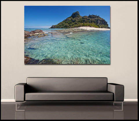"""Castaway Island"" Fiji Fine Art Gallery Wrapped Canvas Print"